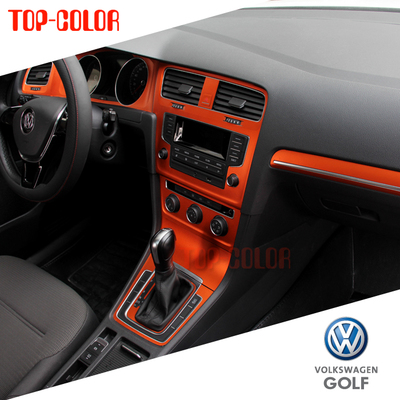 7 ice film Free shipping VW Golf Golf in the control stick interior ice film posted a full interior change color car stickers