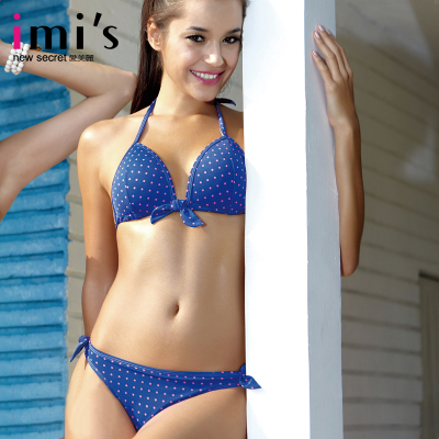 Preferential imis genuine love beautiful color dot sexy bikini swimwear triangle cup IM67961