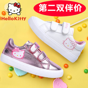 HELLO KITTY童鞋女童板鞋2016秋季新款运动鞋白色板鞋学生小白鞋