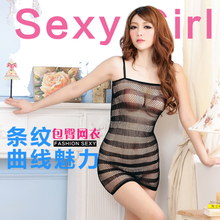 The women's sexy lingerie net big yards exposed breast open fork transparent uniform extreme temptation suit 9.9 package mail