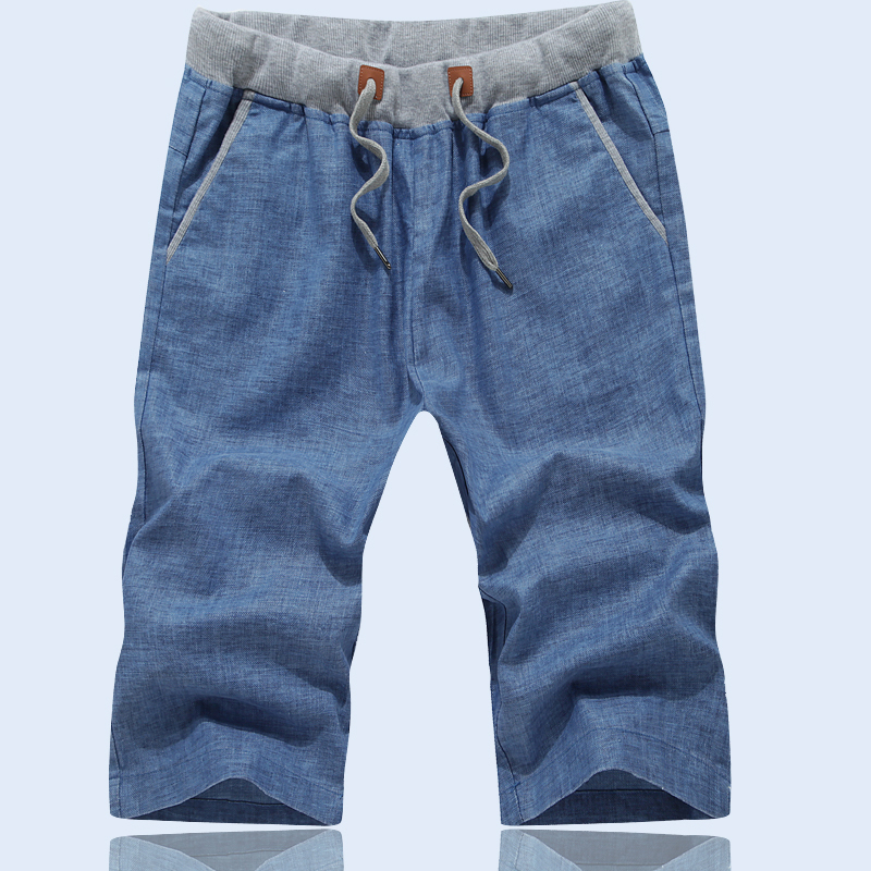 DDR亚麻短裤男夏天休闲裤男短裤五分裤男修身中裤夏季裤子沙滩裤