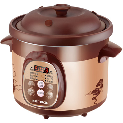 Tonze / purple sky DGD20-20ZWD 2L soup casserole electric cooker small electric casserole automatic porridge pot