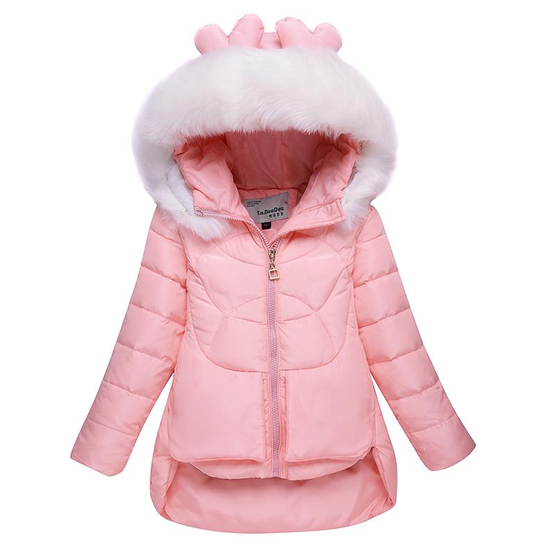 2016冬季新款童装女童儿童羽绒服中长款毛领中大童加厚冬装外套潮