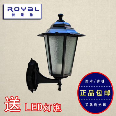European outdoor patio shade wall lamp door lamp lights wall lights outdoor terrace retro background decorative lamps