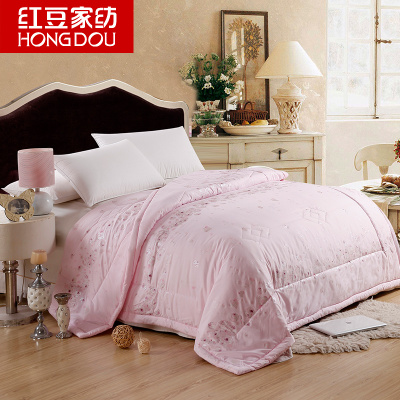 Red beans textile air conditioning is cool in summer bedding thin quilt single double summer special clearance