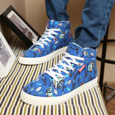 Winter Korean high-top canvas shoes male cotton-padded shoes tide Lin curved tidal wave of men's casual shoes shoes shoes student