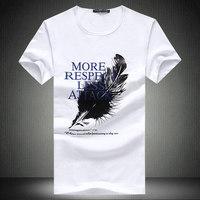 夏季新款特价男式短袖T恤白色纯棉圆领修身休闲半截袖