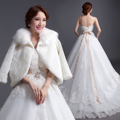 Ho Man Ting 2014 new bride wedding custom Bra big yards was thin winter models quarter trailing wedding dress Qi