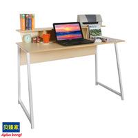 台式电脑桌钢木 转角办公书桌书架写字台家用时尚流行简约田园