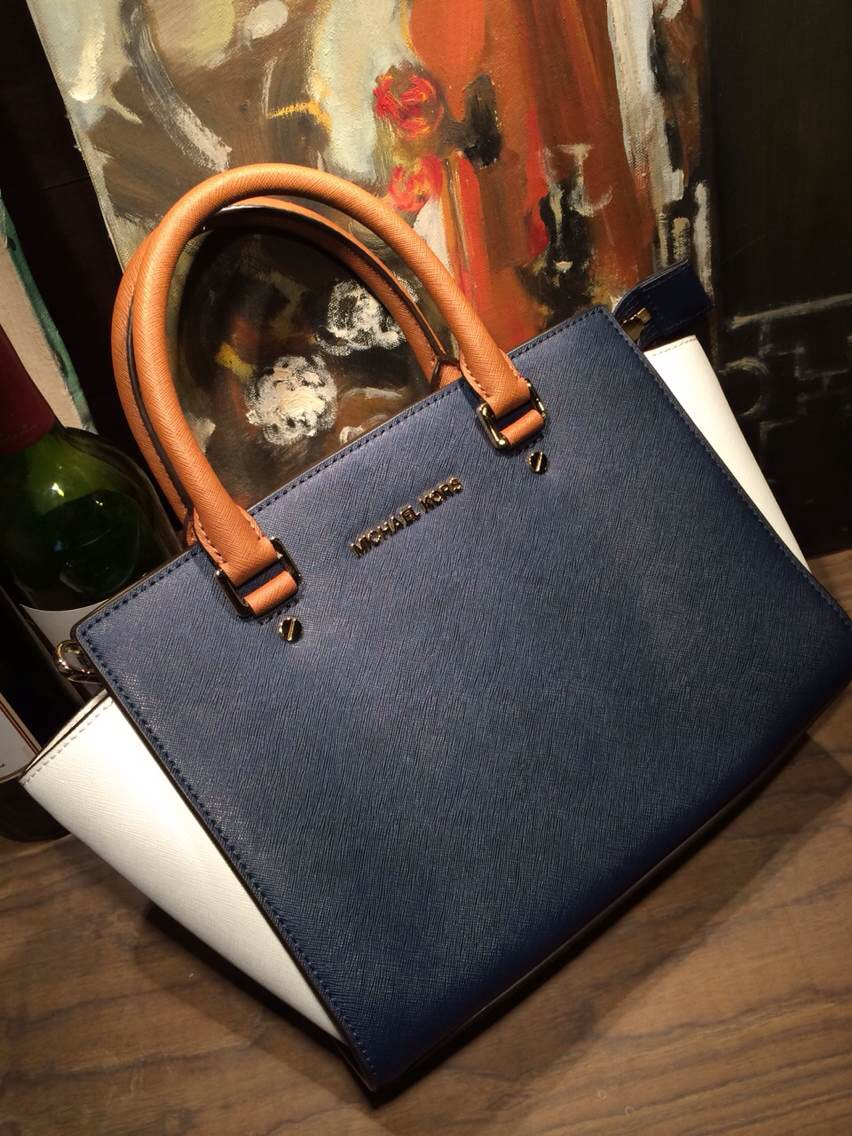 美国代购直邮正品  MICHAEL KORS MEDIUM SELMA 新款拼色中号包