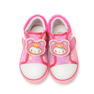Children's Castle - Sanrio Hello Kitty Leopard Duantong small canvas shoes 714809