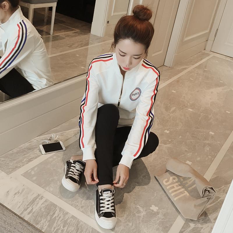 休闲运动套装女两件套2017春装新款潮韩版学生春秋卫衣跑步运动服