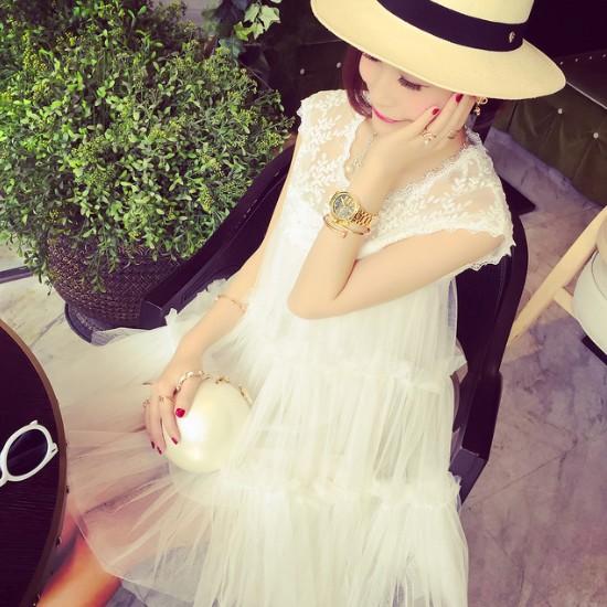 2016春夏装新款孕妇裙蕾丝拼接孕妇连衣裙孕妇装背心裙夏款上衣