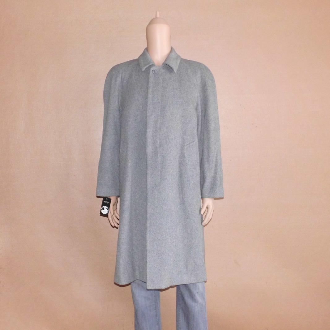 日本袖�y�>x�_胸120日本制库存撤柜男长款商务正装百搭插肩袖高端羊绒羊毛大衣