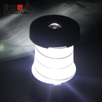 Kitayama wolf outdoor tent lights camp lights compression telescopic flashlight camping lantern light Lantern hanging lamp
