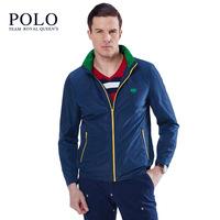 美国保罗新款立领男士夹克美式休闲运动外套修身青年男装上衣纯色