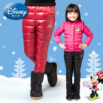 Disney brand new autumn and winter 2014 children's clothing girls girls thick down pants Slim Down Light