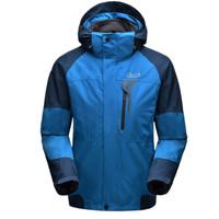 兰德斯 冲锋衣男士两件套抓绒保暖滑雪登山服防风保暖冲锋衣特价