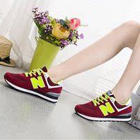 2016春季女鞋平底鞋单鞋厚底韩版气垫鞋运动鞋女休闲学生跑步鞋子