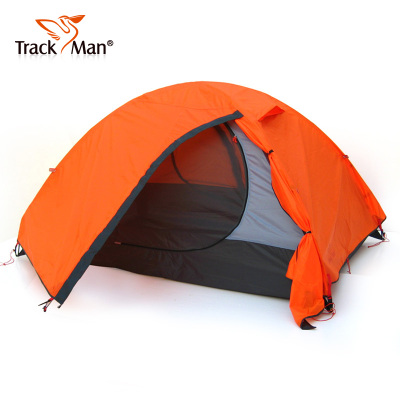 TrackMan outdoor tent camping equipment Double Pole Double quarters against storm tent outdoor