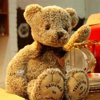 韩国高端泰迪熊博物馆同款泰迪熊公仔复古可爱毛绒玩具七夕礼物