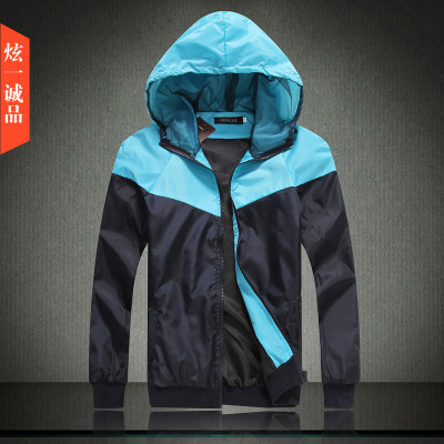 A product Hitz trend of men's hooded jacket Korean men's baseball jacket thin Slim blazers