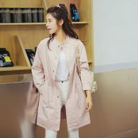 2016秋装新款韩国流行简约时尚防风气质显瘦修身风衣