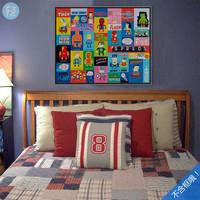 轻艺术定制复仇者卡通美国超级英雄海报画芯 收藏儿童房装饰挂画