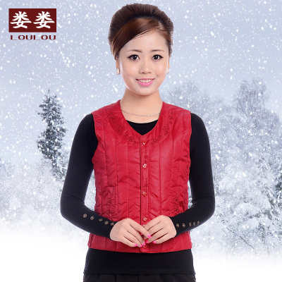 Middle-aged ladies new winter thick warm cotton vest cotton vest waistcoat vest middle-aged women mother dress