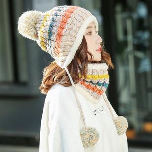 帽子女秋冬季潮百搭甜美可爱女士针织毛线帽冬天保暖护耳
