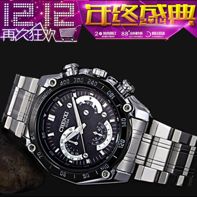 Genuine male models male table quartz watch student waterproof watch quartz men luminous steel mechanical models with electronic table