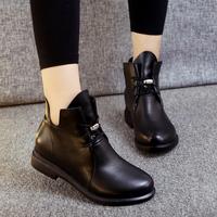 休闲短靴帅气百搭马丁靴森女文艺复古女靴舒适四季鞋女平跟单靴子