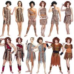 万圣节cosplay印第安原始人演出土著豹纹表演衣服野人服装狂欢节