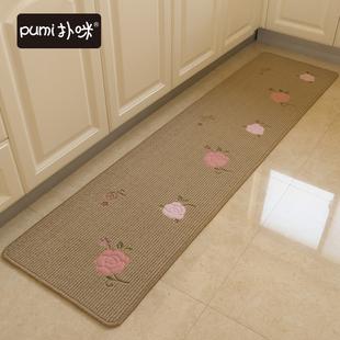 扑咪厨房地垫长条防滑吸水脚垫防水防油家用地毯吸水可机洗
