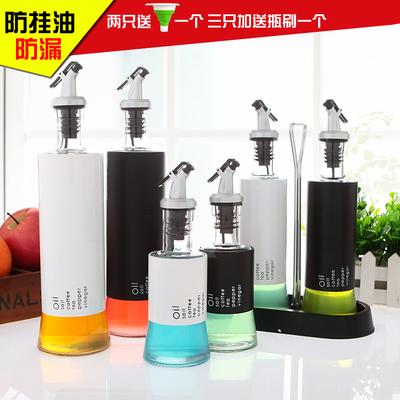 厨房用品创意玻璃油醋瓶酱油瓶醋瓶家用不锈钢油醋壶欧式防漏油壶