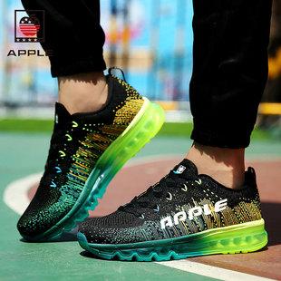 美国苹果男鞋夏季透气网鞋运动鞋子AirMax全掌气垫鞋男网面跑步鞋