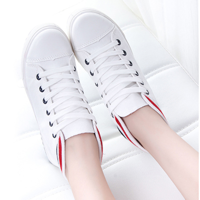 Autumn models high-top canvas shoes female Korean students within the higher heavy-bottomed platform shoes casual shoes shoes flat shoes