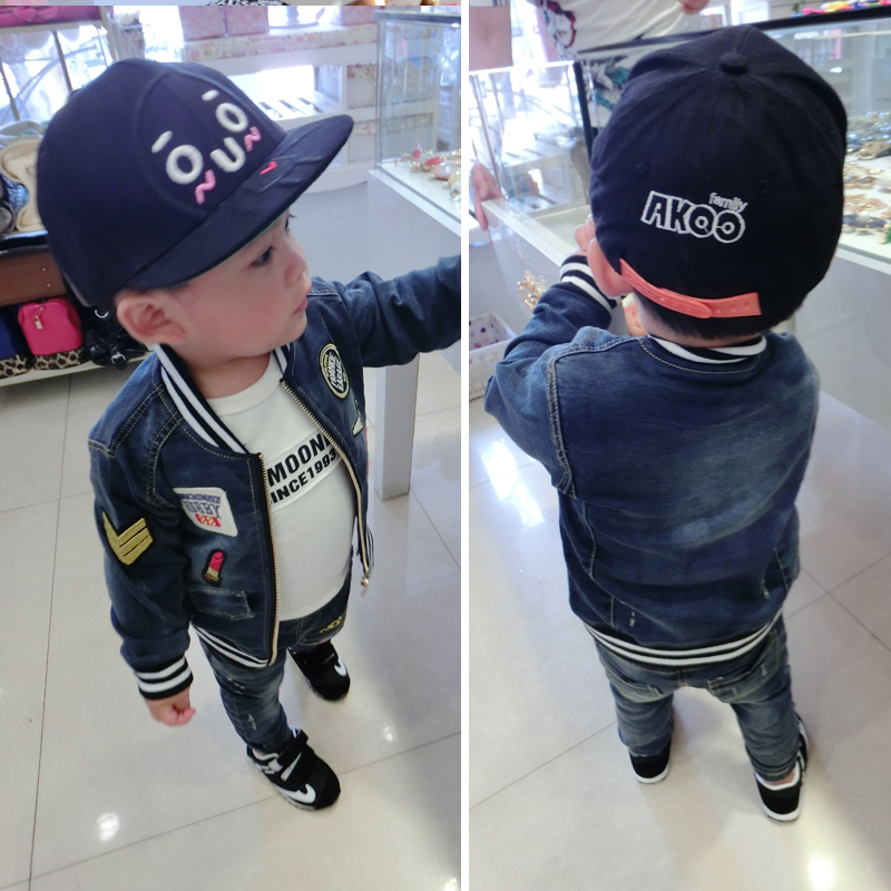 2014 Autumn Baby Kids Boys Girls Boys Medal cowboy suit suit Korean version of the influx of baby