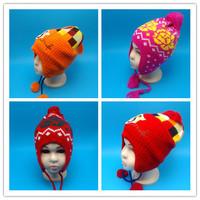 儿童帽子秋冬宝宝帽子0-1-2岁婴儿帽男女童小孩加绒护耳帽套头帽