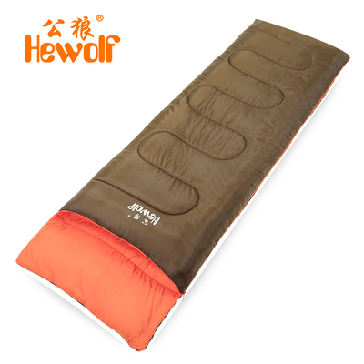 Male wolf may tiled outdoor envelope sleeping bag camping adult sleeping bag liner spring and autumn warm sleeping bag lunch