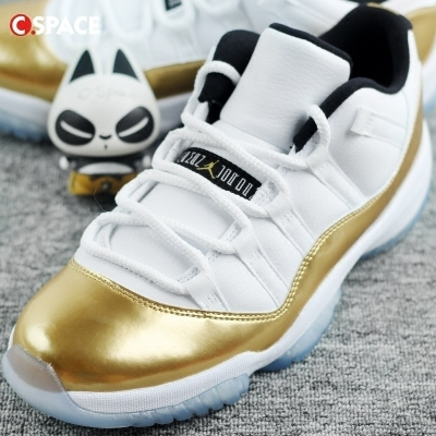 『Cspace』Air Jordan 11 Low Gold AJ11白金 528895-528896-103