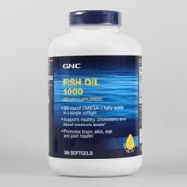 2瓶包邮! 美国原装GNC 深海鱼油软胶囊360粒 大包装全家服用实惠