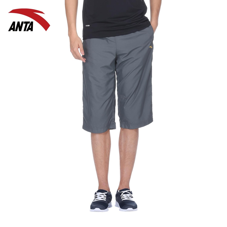 安踏男款运动短裤2014夏季跑步七分裤休闲裤速干运动裤男95321348