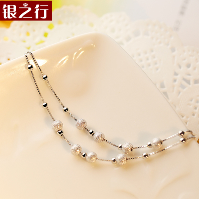 Line Silver Sterling Silver Bracelet transfer beads accessories female Korean fashion jewelry silver jewelry sweet student shipping