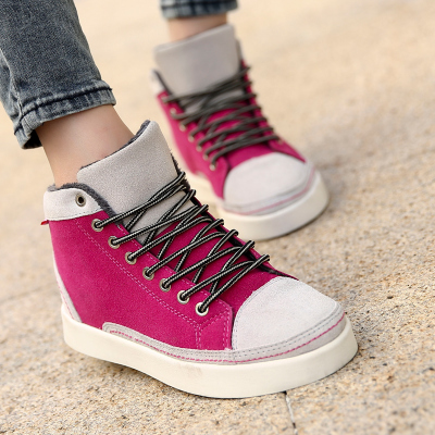 Winter flat velvet high-top shoes tide shoes student shoes Korean couple female cotton-padded shoes, sports shoes