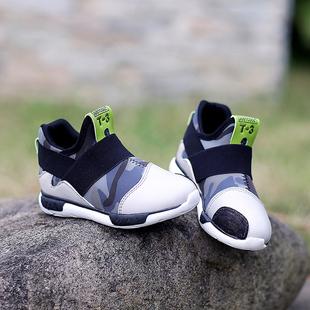 真皮潮鞋儿童鞋男童休闲鞋运动鞋2015春秋季新款韩版小学生高帮鞋