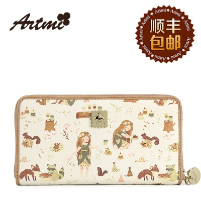 Hong Kong Art Artmi dense authentic handbags new sweet lady zipper wallet Ms. hand Wallet