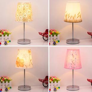 欧式卧室温馨床头灯装饰创意婚房台灯现代简约田园调光触摸小台灯