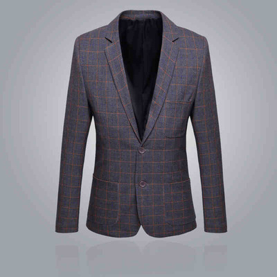 Visa Leopard 2015 spring new men's plaid suit fashion casual Korean Slim small suit coat tide male