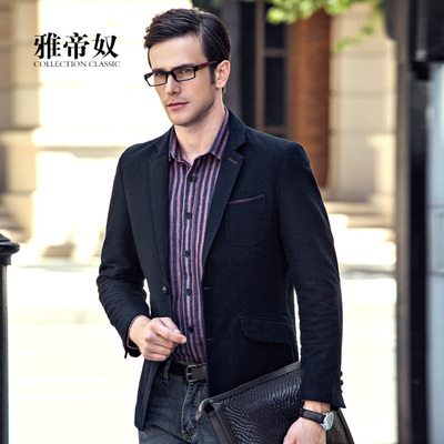 ARTE slave men's casual men's suit jacket single solid color suit Slim jacket England Hitz